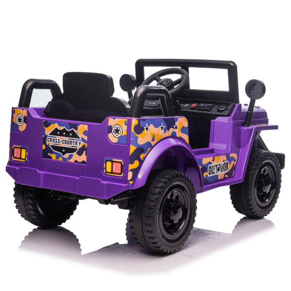 6V Realistic Toy Truck for Toddlers w/ Horn, Purple TH17P08696