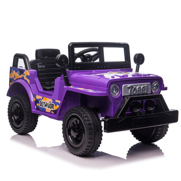 6V Realistic Toy Truck for Toddlers w/ Horn, Purple TH17P08697