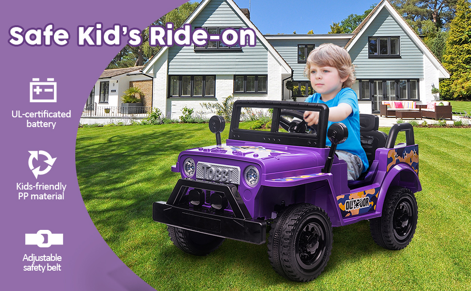 6V Realistic Toy Truck for Toddlers w/ Horn, Purple TH17P0869AHattie970X6002