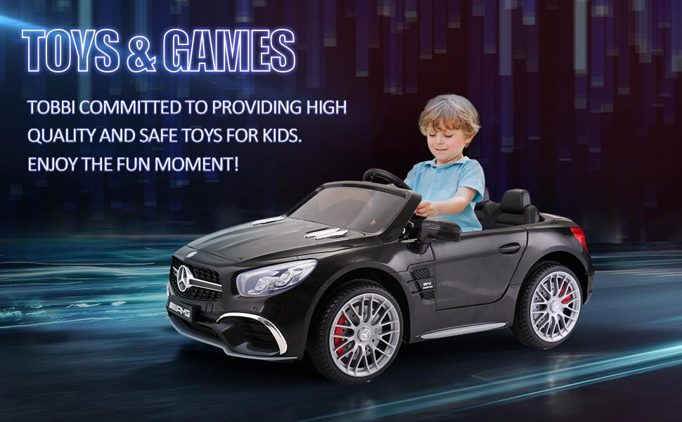 12V Mercedes Benz Licensed Kids Ride On Car with Remote Control, Black TH17R0294 10