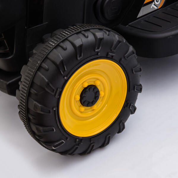 12v Battery-Powered Tractor with Trailer, Black TH17R0492 11