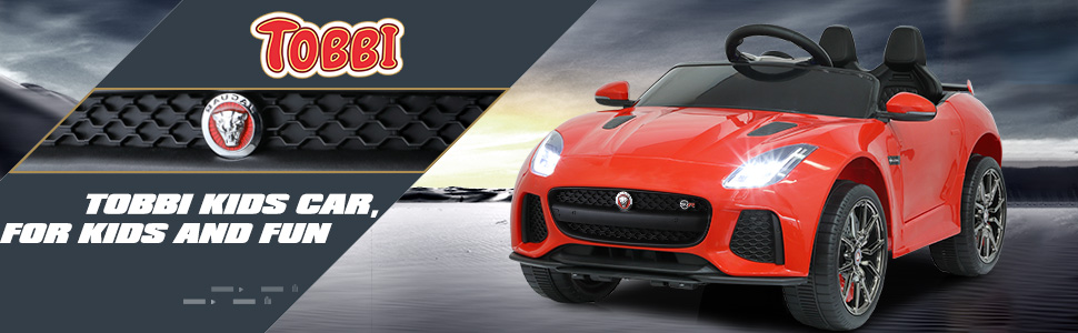 Jaguar F-Type SVR Kids Electric Ride on Car Toy with Dual Motor, Red TH17R0654 5