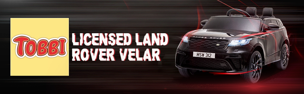 12V Land Rover Licensed Electric Kids Ride On Car with Remote Control, Black TH17R0816 1