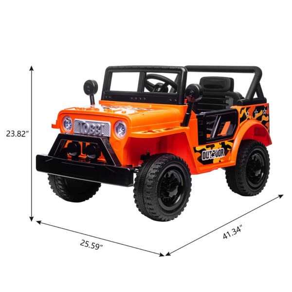 Battery Powered Kid's Car Truck with Double Doors, 12V TH17R0870 cct