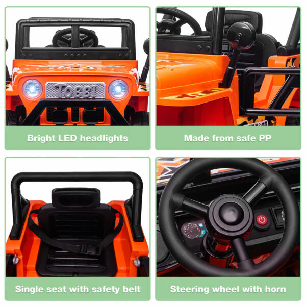 Battery Powered Kid's Car Truck with Double Doors, 12V TH17R0870 zt1