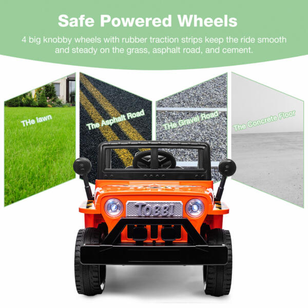 Battery Powered Kid's Car Truck with Double Doors, 12V TH17R0870 zt2