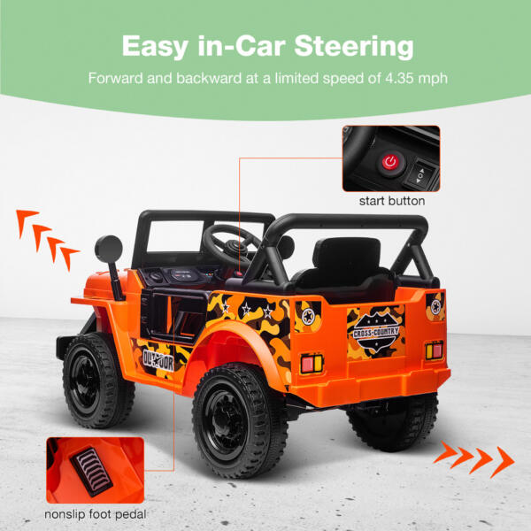 Battery Powered Kid's Car Truck with Double Doors, 12V TH17R0870 zt3
