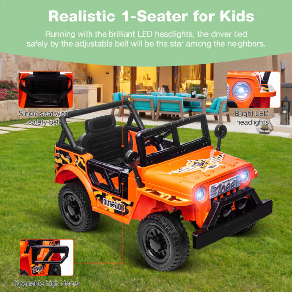 Battery Powered Kid's Car Truck with Double Doors, 12V TH17R0870 zt4