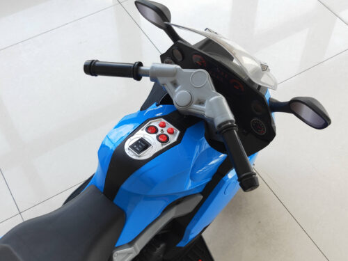 Electric Ride On Motorcycle Toy for Kids, Blue photo review