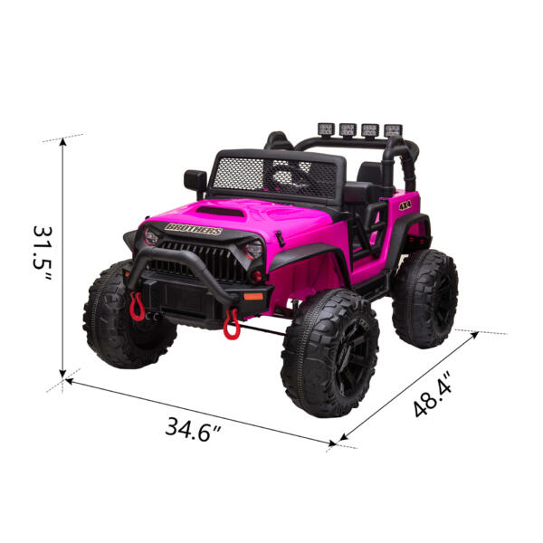 12V Powerful Ride On Truck Jeep Wrangler for Kids TH17T0494 cct
