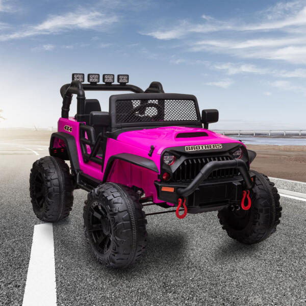 12V Powerful Ride On Truck Jeep Wrangler for Kids TH17T0494 cj 1 1