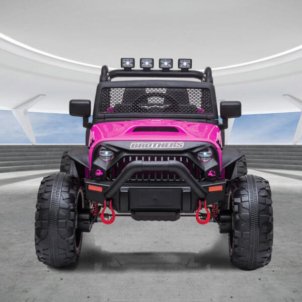 12V Powerful Ride On Truck Jeep Wrangler for Kids TH17T0494 cj 2