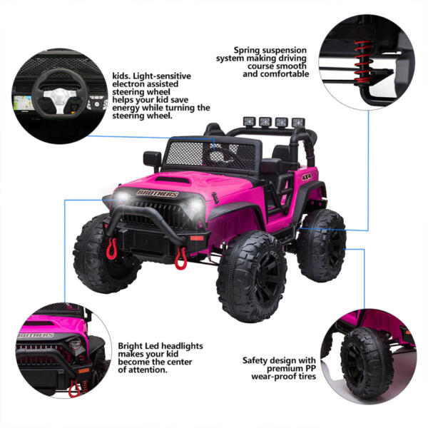 12V Powerful Ride On Truck Jeep Wrangler for Kids TH17T0494 zt 1