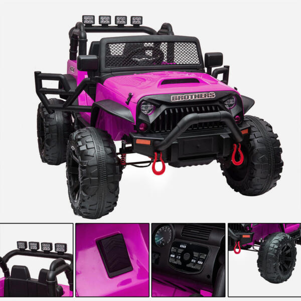 12V Powerful Ride On Truck Jeep Wrangler for Kids TH17T0494 zt 4