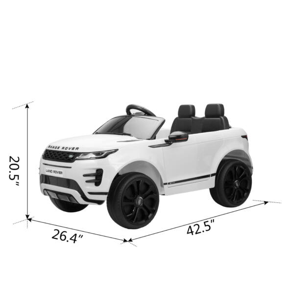12V Land Rover Kids Power Wheels Ride On Toys With Remote, White TH17T0620 cct48