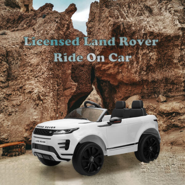 12V Land Rover Kids Power Wheels Ride On Toys With Remote, White TH17T0620 zt57