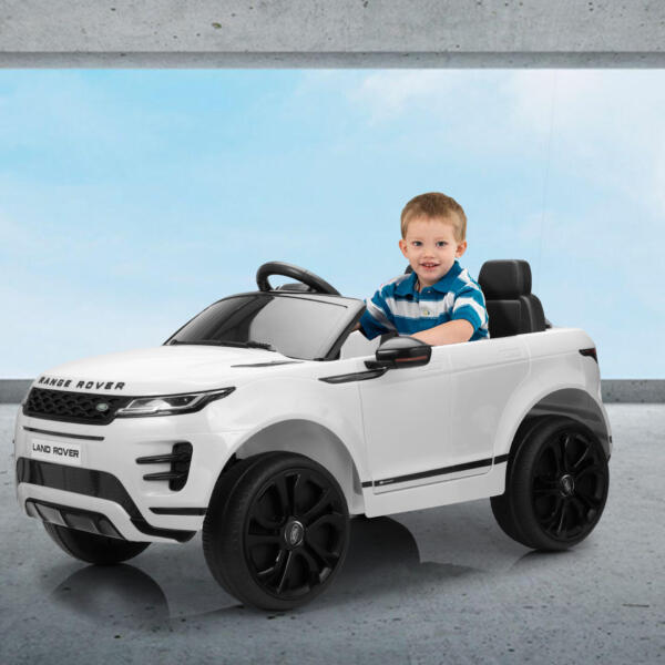 12V Land Rover Kids Power Wheels Ride On Toys With Remote, White TH17T0620 zt59