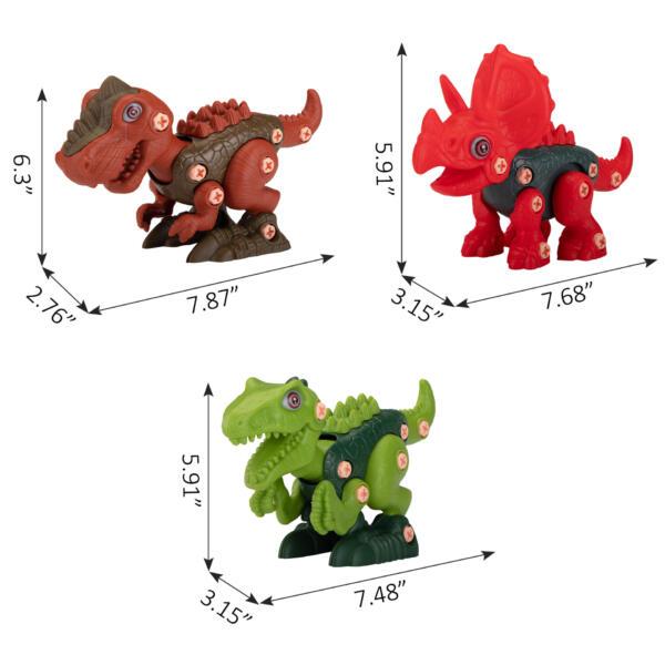 DIY 3-1 Dinosaur Take Apart Kid's Toy Set TH17T0818 cct