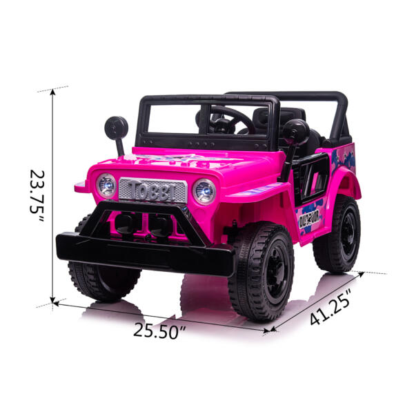 12V Kid's Ride On Truck Off-Road Vehicle W/ Double Doors TH17T0872 cct1