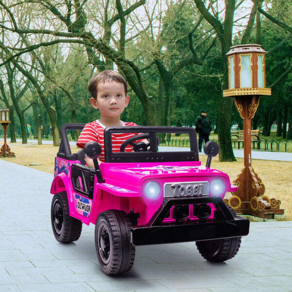12V Kid's Ride On Truck Off-Road Vehicle W/ Double Doors TH17T0872 cj6