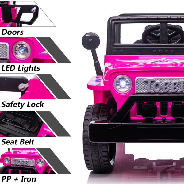 12V Kid's Ride On Truck Off-Road Vehicle W/ Double Doors TH17T0872 zt1