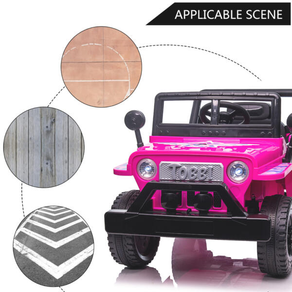 12V Kid's Ride On Truck Off-Road Vehicle W/ Double Doors TH17T0872 zt3