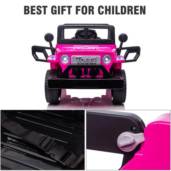 12V Kid's Ride On Truck Off-Road Vehicle W/ Double Doors TH17T0872 zt5