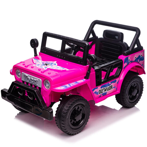 12V Kid's Ride On Truck Off-Road Vehicle W/ Double Doors TH17T087213