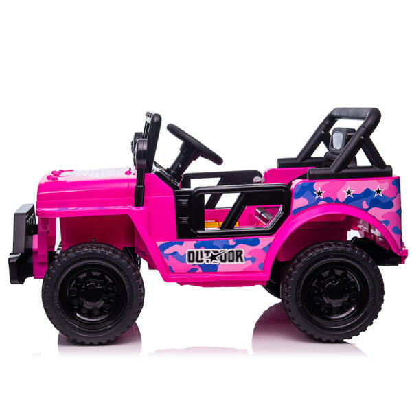 12V Kid's Ride On Truck Off-Road Vehicle W/ Double Doors TH17T08725