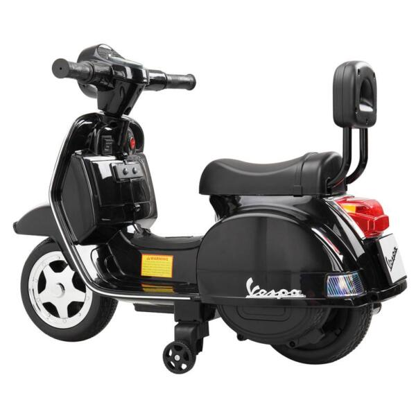Vespa Licensed 6V Kids Electric Motorcycle, Black TH17U04770