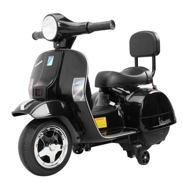 Vespa Licensed 6V Kids Electric Motorcycle, Black TH17U047711