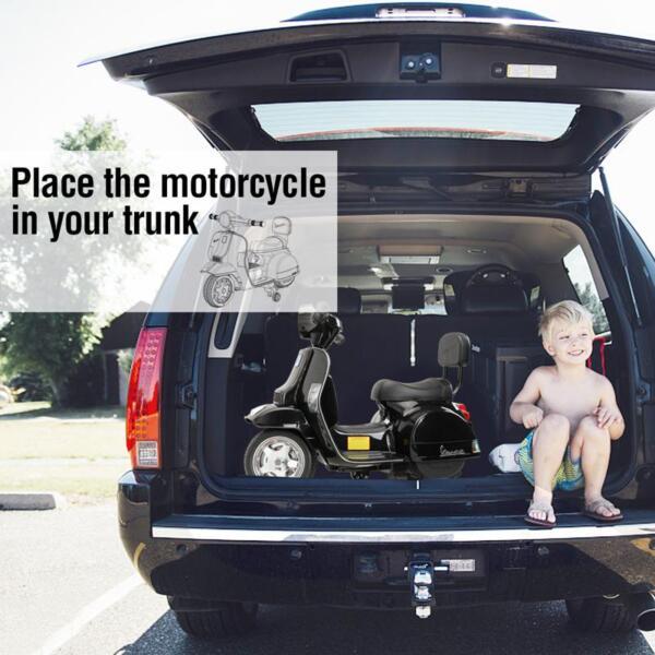 Vespa Licensed 6V Kids Electric Motorcycle, Black TH17U047717
