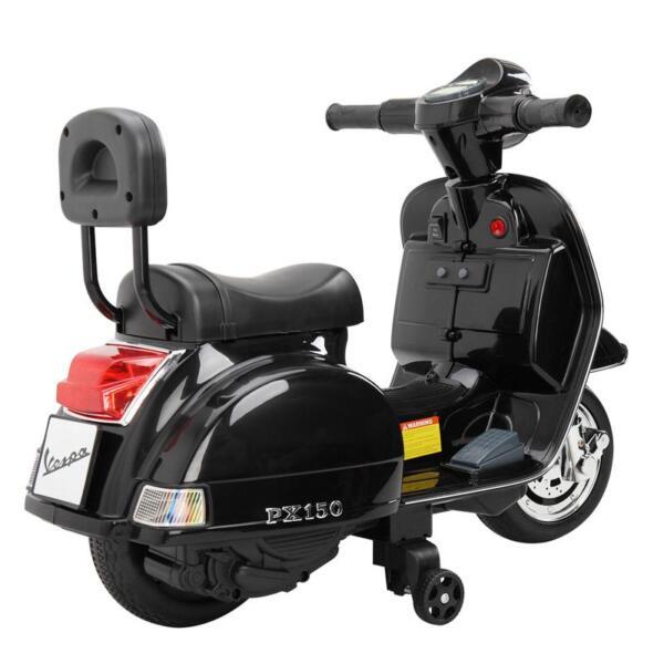 Vespa Licensed 6V Kids Electric Motorcycle, Black TH17U04772