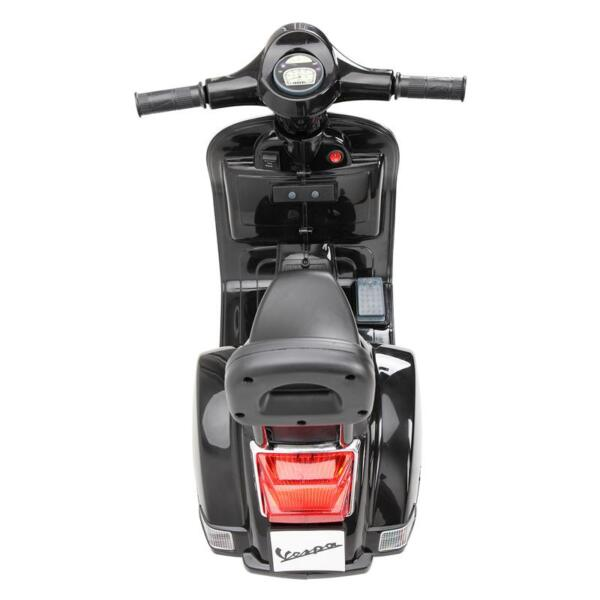 Vespa Licensed 6V Kids Electric Motorcycle, Black TH17U04776