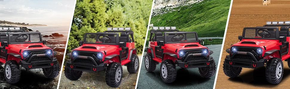 12V Extra Large Electric Ride On Truck for Kids with Remote Control, Red TH17U0711 7