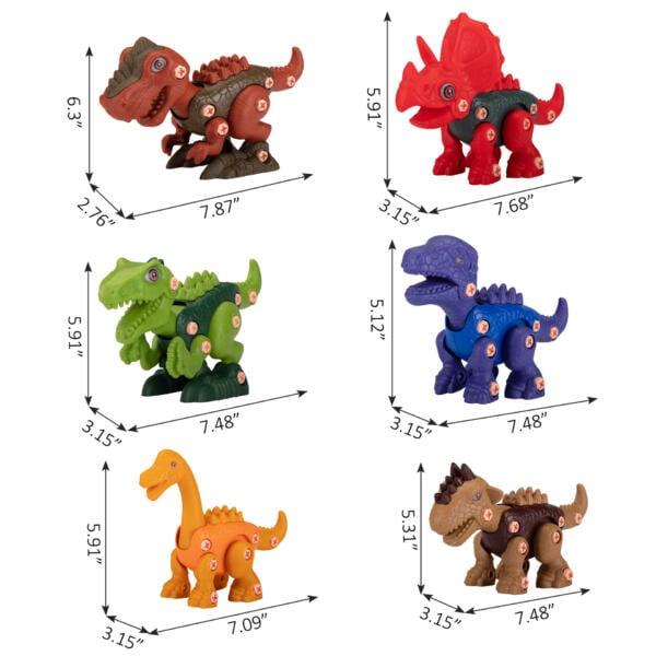 6 Packs DIY Building Dinosaur Toys Set TH17U0819 cct