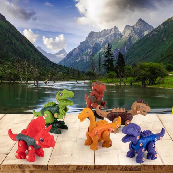 6 Packs DIY Building Dinosaur Toys Set TH17U0819 cj 4