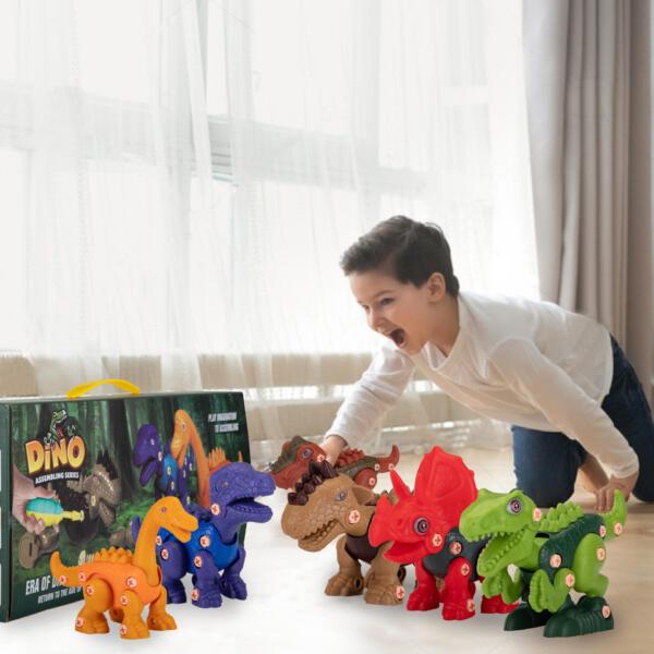 6 Packs DIY Building Dinosaur Toys Set TH17U0819 cj 5