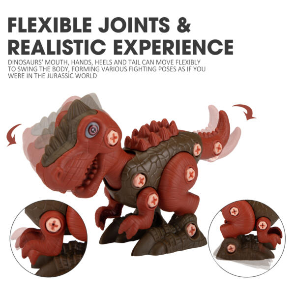 6 Packs DIY Building Dinosaur Toys Set TH17U0819 zt 4