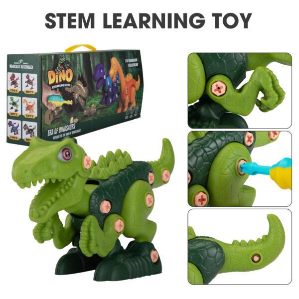 6 Packs DIY Building Dinosaur Toys Set TH17U0819 zt 5