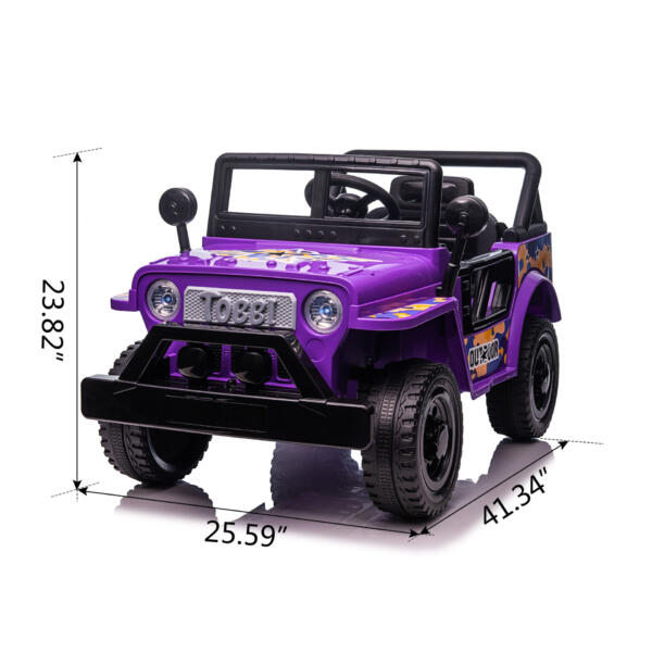 Electric Ride On Truck Toy for Kids with Horn, 12V TH17U0873 cct