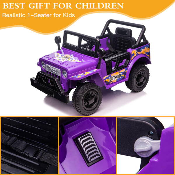 Electric Ride On Truck Toy for Kids with Horn, 12V TH17U0873 zt1
