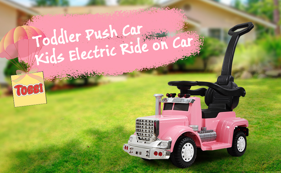 Toddler Push Car Kids Electric Ride-on Car, Pink TH17W0370A970X6001