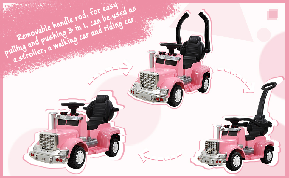 Toddler Push Car Kids Electric Ride-on Car, Pink TH17W0370A970X6002