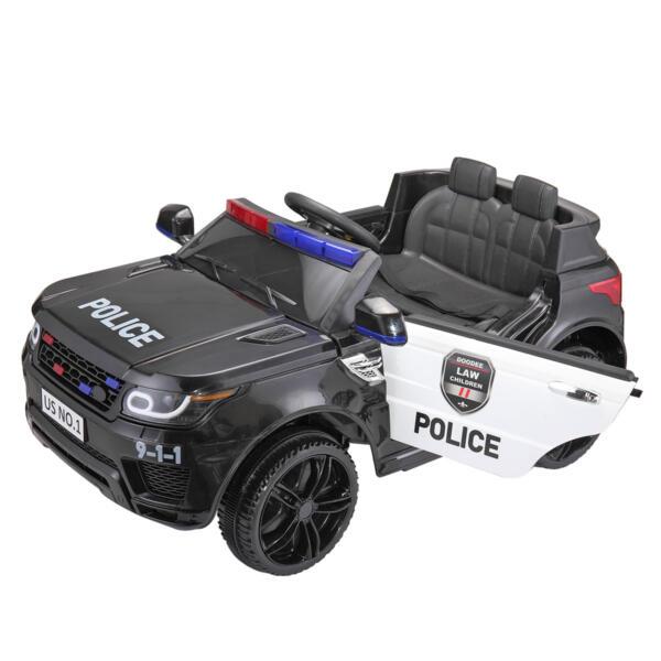 12V Kids Ride On Police Car, Black TH17W0442 50