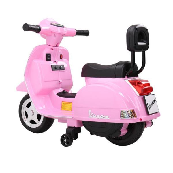 Vespa Licensed 6V Kids Ride On Motorcycle, Horn TH17W04780