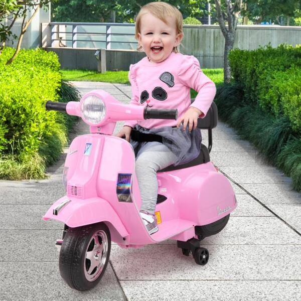 Vespa Licensed 6V Kids Ride On Motorcycle, Horn TH17W047814 1