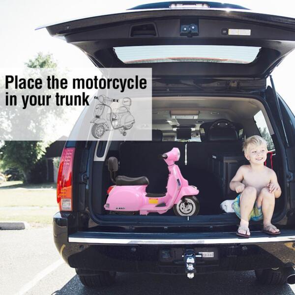 Vespa Licensed 6V Kids Ride On Motorcycle, Horn TH17W047817