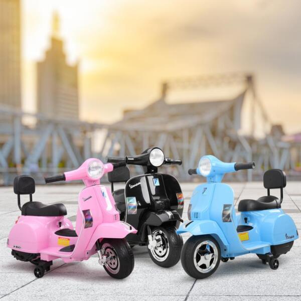 Vespa Licensed 6V Kids Ride On Motorcycle, Horn TH17W047818