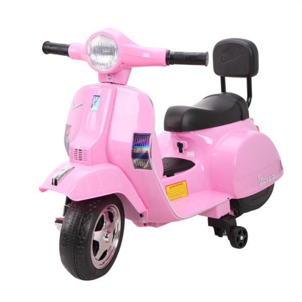 Vespa Licensed 6V Kids Ride On Motorcycle, Horn TH17W04789